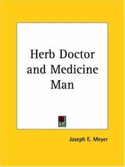 Cover of: Herb Doctor and Medicine Man | Joseph E. Meyer