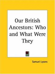 Cover of: Our British Ancestors | Samuel Lysons