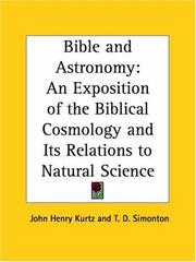 Cover of: Bible and Astronomy by T. D. Simonton