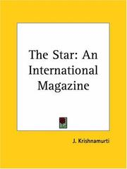 Cover of: The Star by Jiddu Krishnamurti