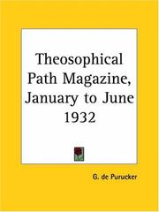 Cover of: Theosophical Path Magazine, January to June 1932 | G. De Purucker