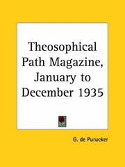 Cover of: Theosophical Path Magazine, January to December 1935 | G. De Purucker