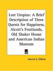 Cover of: Lost Utopias | Harriet E. O'Brien