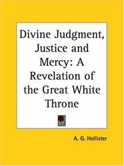 Cover of: Divine Judgment, Justice and Mercy | A. G. Hollister