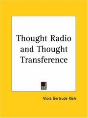 Cover of: Thought Radio and Thought Transference | Viola Gertrude Rich