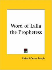 Cover of: Word of Lalla the Prophetess | Richard Carnac Temple