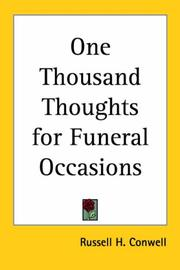 Cover of: One Thousand Thoughts for Funeral Occasions | Russell Herman Conwell