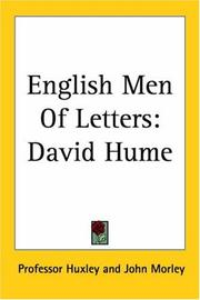Cover of: English Men Of Letters by Professor Huxley