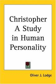Cover of: Christopher by Oliver Lodge