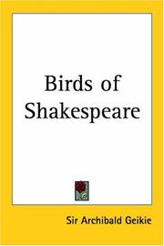 Cover of: Birds of Shakespeare | Archibald Geikie