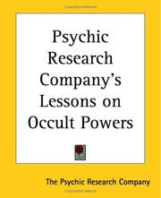 Cover of: Psychic Research Company's Lessons On Occult Powers | Psychic Research Company