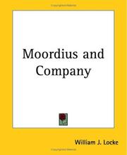 Cover of: Moordius and Company by William John Locke