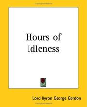 Cover of: Hours Of Idleness | Lord George Gordon Byron