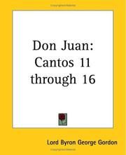 Cover of: Don Juan | Lord George Gordon Byron