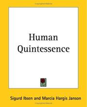 Cover of: Human Quintessence by Sigurd Ibsen