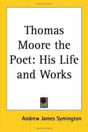 Cover of: Thomas Moore the Poet | Andrew James Symington
