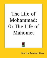 Cover of: The Life Of Mohammad | Henri de Boulainvilliers