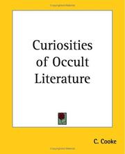 Cover of: Curiosities Of Occult Literature | C. Cooke