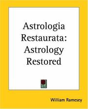 Cover of: Astrologia restaurata | William Ramesey