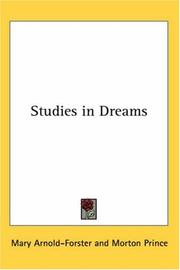 Cover of: Studies in Dreams | Mary Lucy Story-Maskelyne Arnold-Forster