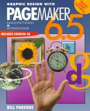 Cover of: Graphic Design with Pagemaker 6.5 (Adobe PageMaker) | William Parsons