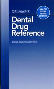 Cover of: Delmar's Dental Drug Reference | Elena Bablenis Haveles