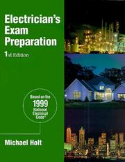 Cover of: Electrician's Exam Preparation | Michael Holt
