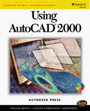 Cover of: Using AutoCAD 2000 | Autodesk Press