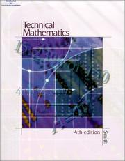 Cover of: Technical Mathematics- Softcover by Robert D. Smith