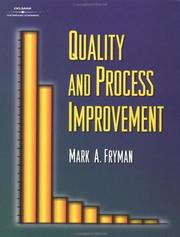 Cover of: Quality and Process Improvement | Mark Fryman