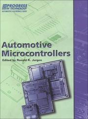 Cover of: Automotive Microcontrollers (Progress in Technology) by Ronald K. Jurgen