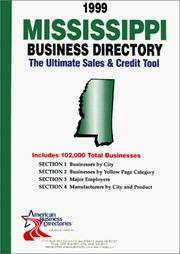 Cover of: 1999 Mississippi Business Directory | infoUSA Inc.