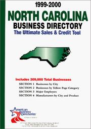 Cover of: 1999-2000 North Carolina Business Directory | infoUSA Inc.