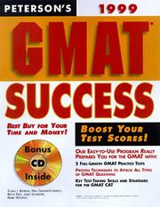 Cover of: Peterson's Gmat Success 1999 (Annual) | Petersons