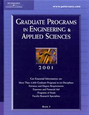 Cover of: Peterson's Graduate Programs in Engineering & Applied Sciences 2001 | Peterson's