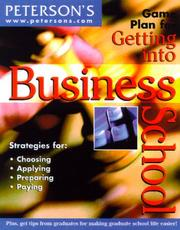 Cover of: Peterson's game plan for getting into business school | Michele Kornegay