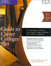 Cover of: Peterson's Guide to Career Colleges 2001 | Peterson's