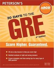 Cover of: 30 Days to the GRE CAT (30 Days to the Gre Cat) | Orton & Rimal