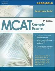 Cover of: Gold MCAT Sample Exams, 5th edition (Academic Test Preparation Series) | Brisk, Drucker, Garland Bobsworth