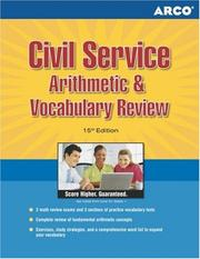 Cover of: Civil Service Arithmetic & Vocabulary, 15th edition by Haller, & Stein Erdsneker