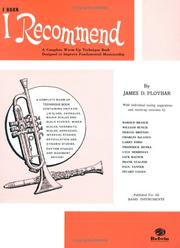 Cover of: I Recommend (Horn in F) by James Ployhar