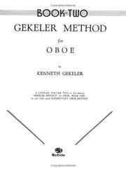 Cover of: Gekeler Method for Oboe (Gekeler Method) by Kenneth Gekeler