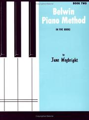 Cover of: Belwin Piano Method / Book 2 | June Weybright
