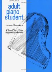Cover of: Adult Piano Student / Level 1 | David Carr Glover
