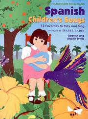 Cover of: Spanish Children's Songs, Solo | Isabel Radin