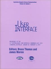 Cover of: First Australasian User Interface Conference, Auic 2000: 31 January-3February 2000 Canberra, Australia | A. C. T.) Australasian User Interface Conference 2000 (Canberra