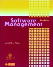 Cover of: Software management by Donald J. Reifer