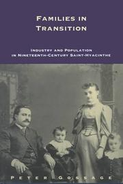 Cover of: Families in transition by Gossage, Peter