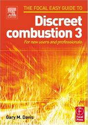 Cover of: Focal Easy Guide to Discreet combustion 3 by Gary M Davis