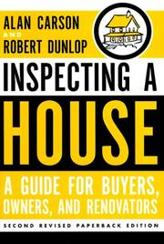 Cover of: Inspecting a house | Alan Carson